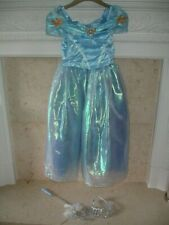 Girls Stunning Cinderella Dress Up Costume by Disney Store Age 7/8 Tiara & Wand