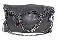 STELLA MCCARTNEY Falabella Shaggy Faux Leather Foldover Purse