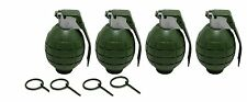 4 Pack GREEN Toy Dummy Grenades
