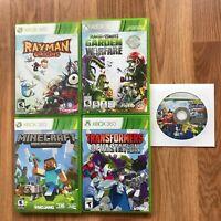 XBox 360 5 Games Bundle Rayman Minecraft Sonic Plants Vs Zombie Transformers