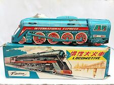 VINTAGE OLD RARE 60's CHINA TIN TOY FRICTION LOKOMOTIVE INTERNATIONAL MF804