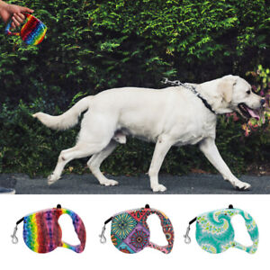 Dog Collar Leash Automatic Retractable Leash Harness Puppy Walking Traction 16FT