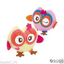 12 Girls Everyday Party Favors Gifts Whimsical OWL YOU'RE A HOOT PLUSH OWLS 6""