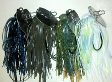 A.C.T. Lures, Thumper Jigs, 3/8oz 4 pack Hand Tied skirts, custom bladed jig