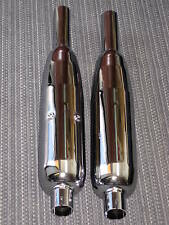 Triumph mufflers Bonneville T120 TR6 muffler set 1963 64 65 66 67 68 69 70