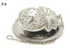Stainless steel pineapple shaped tea infuser with tray, *** Set of 2 pieces ***