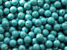 20x 10mm acrylic round beads ~ drawbench turquoise