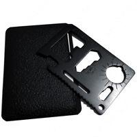 Black 11-in-1 Multi Tool Credit Card Wallet Knife Pocket Survival Camping - USA