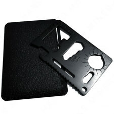 Black 11-in-1 Multi Tool Credit Card Wallet Knife Pocket Survival Camping - USA