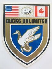 Vintage Pre 1974 Ducks Unlimited Crest Membership Sticker Decal NOS