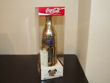1994 LE Coca Cola Gold Plated 1997 New Orleans SB XXXI Comm Bottle With COA MIB