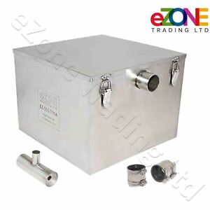 Commercial Grease Trap 55 Litre Catering Waste Fat Oil Filter Stainless Steel