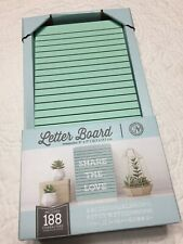 "New View Gifts 5"" X 7"" Wooden Letter Board, New In Box with 188 Characters"