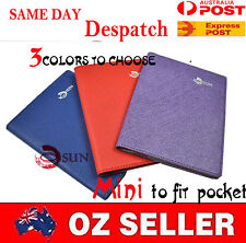 NEW Mini Faux Leather Passport Holder Wallet Travel Documents Organizer 3COLORS