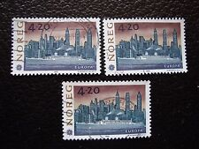 NORVEGE - timbre yvert et tellier n° 1054 x3 obl (A04) stamp norway (P)