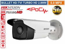 TELECAMERA BULLET HD TVI HIKVISION TURBO HD 5MP 2560X1944 2.8MM POC IR LED