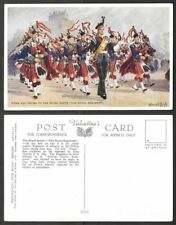 Old Scotland Patriotic Postcard - Royal Scots, Bagpipes, Artist Leigh