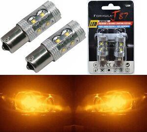 LED Light 50W PY21W Amber Orange Two Bulbs Rear Turn Signal Replace Upgrade Lamp