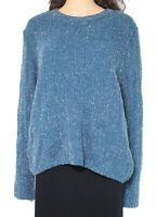 Absolutely Women's Sweater Teal Blue Size Large L Metallic Knitted $48 #214