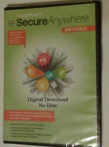 DOWNLOAD   Webroot SecureAnywhere AntiVirus 2021   2 YRS, 5 PC/MAC   KEY EMAILED