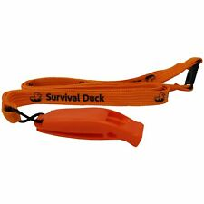 Plastic Emergency Survival Whistle Safety with Lanyard Orange Black Green DOFE
