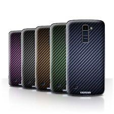 STUFF4 Phone Case/Cover for LG K8/K350N/Phoenix 2 /Carbon Fibre Effect/Pattern