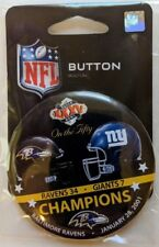 Baltimore Ravens Super Bowl XXXV Button SB 50 Commemative Set ON THE FIFTY
