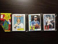 1984 Topps Baseball Rack Pack Dwight Evans On Top