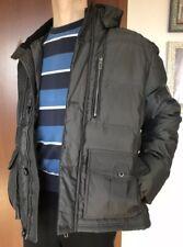 Canda C&A Herren Winterjacke Daunen Jacke, Größe 50, Grau, mit Kapuze
