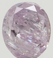 Natural Loose Diamond Oval Pink Color I3 Clarity 3.50 MM 0.12 Ct KR1680