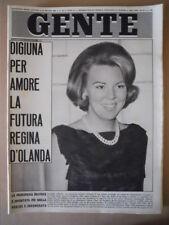 GENTE n°24 1965 Beatrice d' Olanda Maria Josè di Savoia Sofia Loren [C87]