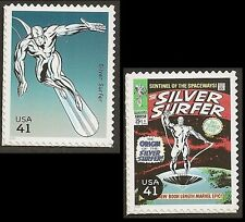 US 4159f 4159p Marvel Comics Super Heroes Silver Surfer 41c 2 stamps MNH 2007