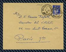 YT#10 obl. CAMP D'AGDE HERAULT s/lettre - Camp de réfugiés espagnols - 1939