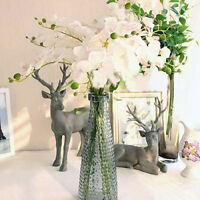 EE_ Artificial Butterfly Orchid Silk Floral Flower Stem Party Wedding Home Decor