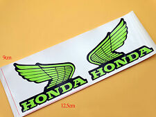 Green Vinyl CB CBR Models Tank Badge Fairng Emblem Decal for Honda Wing Pair L/R