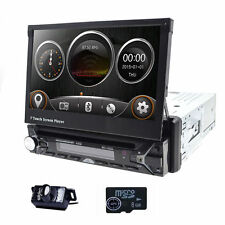 7'' In Dash Single 1Din GPS Bluetooth Autoradio Car Stereo DVD Player RDS+Camera