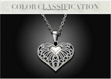 """Womens 925 Sterling Silver Heart Pendant Necklace 18"""" Chain GIFT BOX"""
