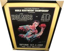 Leroy Neiman Hand Signed Autographed Muhammad Ali VS Larry Holmes Fight Poster