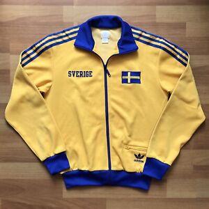 SWEDEN FOOTBALL SOCCER TRACK TOP JACKET ADIDAS ORIGINALS