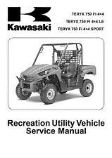 New Kawasaki Teryx 750 Repair Service manual ATV 2010 2011 FREE SHIPPING