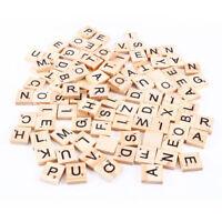 100 pezzi tasselli lettere legno Scarabeo decorazioni personalizzate scrapbook