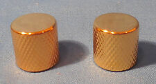 2 NEW GOLD FLAT TOP METAL VOLUME TONE KNOBS FOR FENDER PRECISION BASS GUITAR