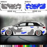 Auto Camouflage Aufkleber Set 2 Farbig Camo Style Car Tattoo Aufkleber tarn S22