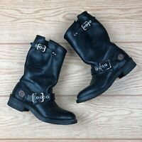 HARLEY Davidson Black Women's Leather Motorcycle Riding Boot Size 5.5