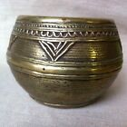 Dhokra Lost Wax Bronze Rice Measure Bowl from Orissa, India