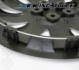 "15"" Inch Replacement Wheel Cover Hubcap #616 Metallic Silver Hub Caps 4pcs Set"