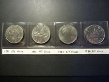 Lot of four BU Nickel Dollars Errors, all strike-through grease errors