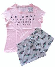 Ladies FRIENDS Summer Pyjamas 6 to 20 Women Girls T-Shirt Shorts PJs Set Primark