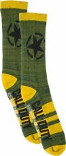 Call of Duty WWII Men's Crew Socks New 1 Pair Olive Green Size 10-13 World War 2