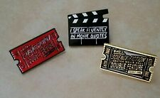 Rocky Horror Rko Science Fiction Double Feature Ticket and Movie Quote Pin set